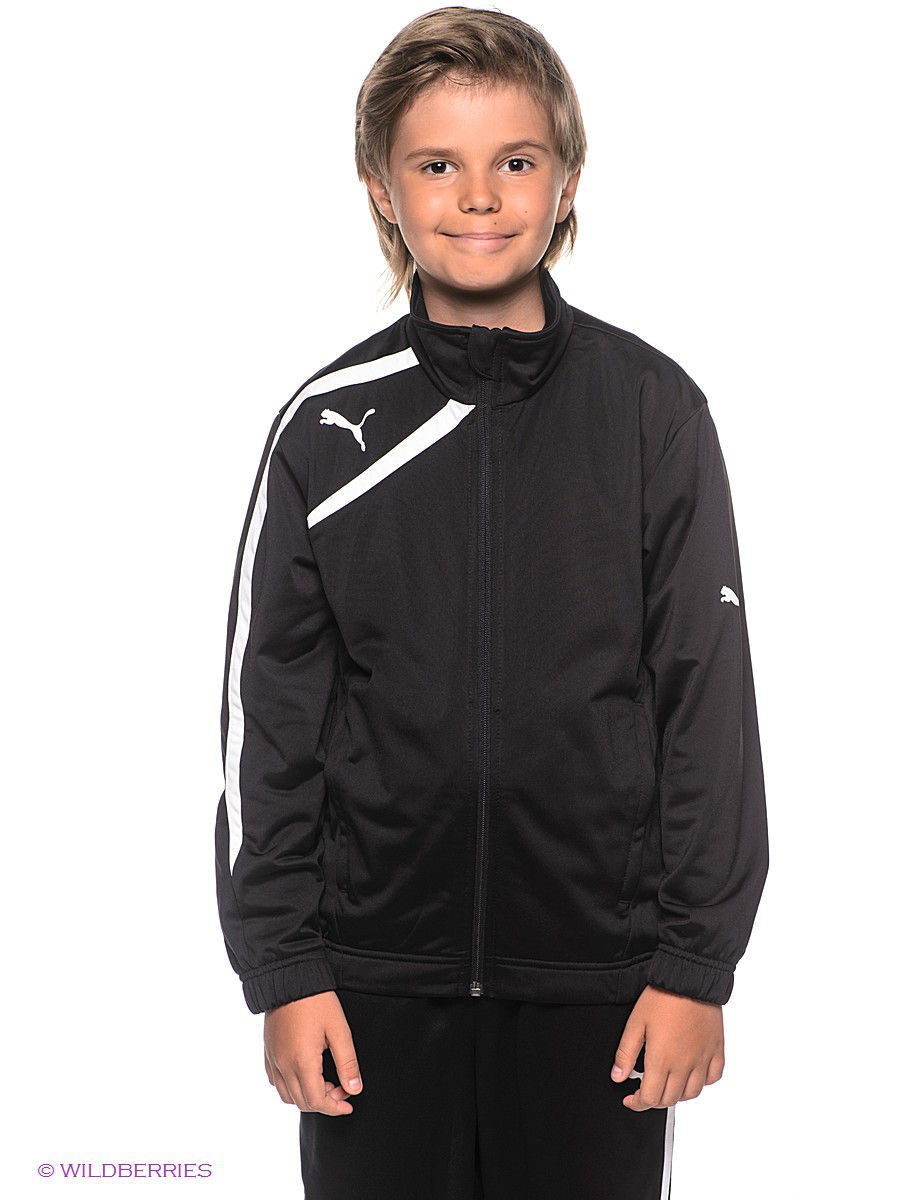 Куртка Spirit Poly Jacket PUMA. Цвет черный.
