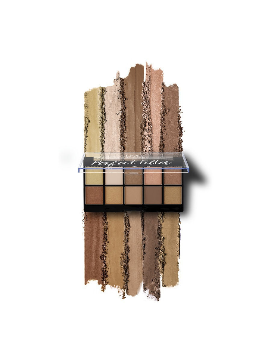 Палетка теней  PERFECT FILTER SHADOW PALETTE - GOLDEN HOUR 01, NYX  PROFESSIONAL MAKEUP