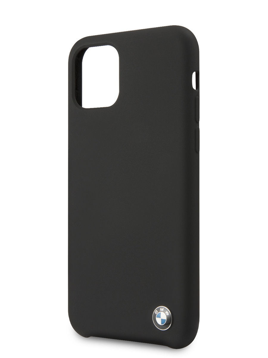 Чехол BMW для iPhone 11 Signature Liquid silicone Hard Black, BMW