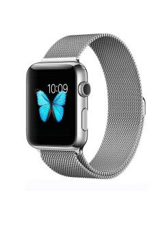 Strap for Apple Watch Milanese loop 38-40 mm silver QNQ