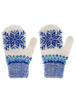 Mittens, without elements, insulated, knitted, fleecy СНЕЖНО