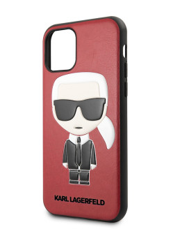 Lagerfeld Case for iPhone 11 Pro Max PU Leather Iconik Karl Hard Red Karl Lagerfeld