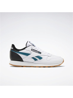 Кроссовки CL LEATHER MU       WHITE/BLACK/HERTEA Reebok