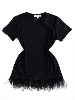 "Feather blouse ""Swan"" T&O"