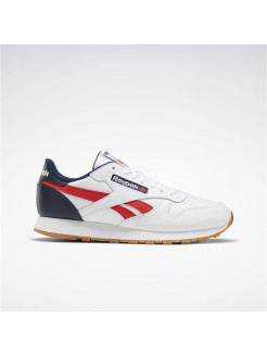 Кроссовки CL LEATHER MU       WHITE/CONAVY/RADRED Reebok