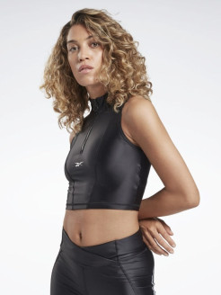 Спортивный топ SH Shiny Lycra Crop BLACK Reebok
