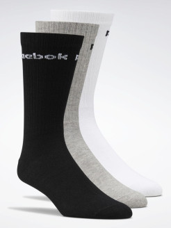 Носки ACT CORE CREW SOCK  WHITE/BLACK/MGREYH Reebok