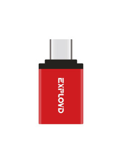 Переходник OTG с USB (F) на TypeC Exployd Red EXPLOYD