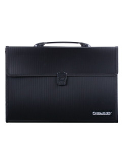 Plastic A4 + briefcase, 3 compartments, with edging Brauberg
