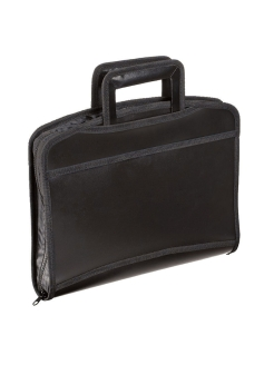 Plastic A4 briefcase folder, 8 compartments, 2 pockets, with a zipper Brauberg