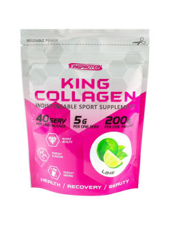King collagen, 200гр, lime (Лайм) King Protein