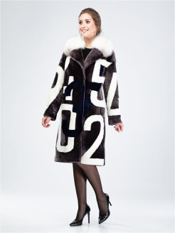 Natural fur coat VALELEO