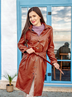 Eco-leather dress Val'Za