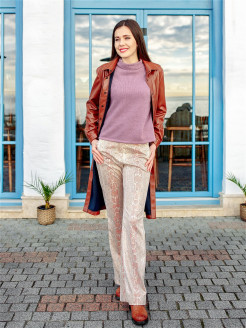 Pants eco-leather python Val'Za