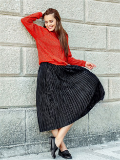 Skirt Pleated Val'Za
