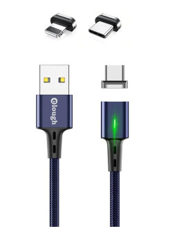 Cable, round, 100 cm, for smartphones, for tablets, for smart watches, USB 2.0 type B, lightning 8 pin, microUSB, USB Type-C, Lightning ELOUGH
