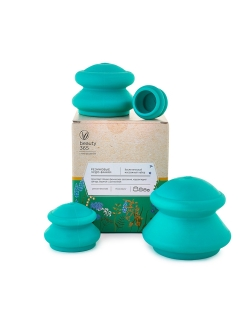 Vacuum massage cups, 4 things., rubber beauty365