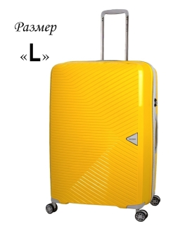 Plastic suitcase on four wheels, size L, 104 l. BAUDET.