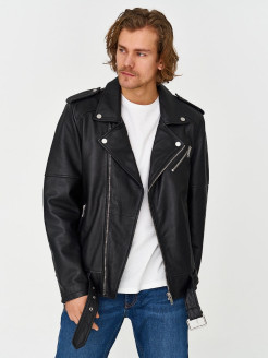 Leather biker jackets Urban fashion for men