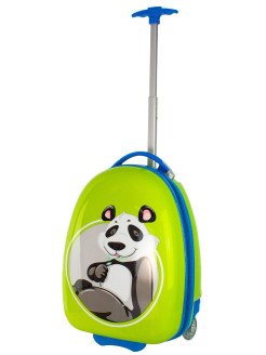 "Suitcase for children plastic 2-wheel ""Panda"" for boys and girls, XS-carry-on baggage, 41 cm PROFFI"