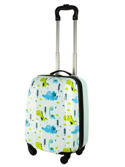 "Suitcase for children 4-wheel ""dinosaurs"", for boys and girls, XS-hand luggage, 41 cm PROFFI"