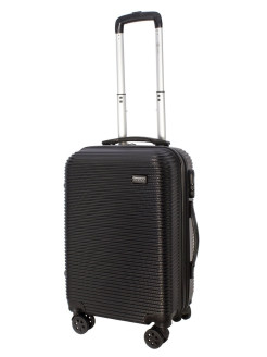 Suitcase on 4 wheels TOUR DAILY plastic small, S-carry-on baggage, black, 40 l, 55 cm PROFFI