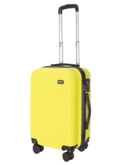Suitcase on 4 wheels TOUR DAILY plastic small, S-carry-on baggage, yellow, 40 l, 55 cm PROFFI