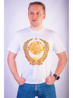 "T-shirt ""Coat of arms of the Soviet Union"" (Soviet coat of arms, symbols of the USSR) KAEM"