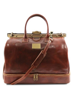 A bag, double bottom, with legs on the bottom Tuscany Leather