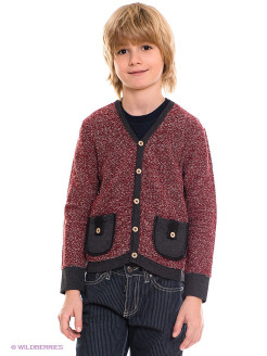 "Кардиган ""Cardigan w/ Leather Trim"" Fore!! Axel and Hudson"