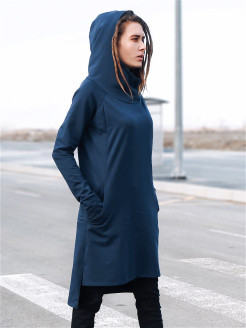 Dress, pocket, cuffs, hood, breathable material, finger slots M-SQUARE