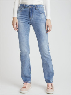 Jeans, boiled effect, straight lines DESIMALL