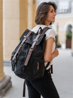 Backpack, 2, adjustable belts, waterproof East Leather