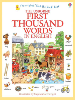 Foreign book, First Thousand Words in English Usborne