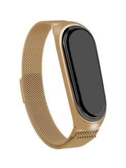 Strap for smart watches, metal, Mi Band 3, Mi Band 4 QNQ