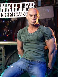 T-shirt, breathable material, boiled effect Painkiller