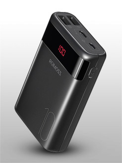 External battery, for smartphones, for tablets, Li-pol, 10,000 mAh Romoss