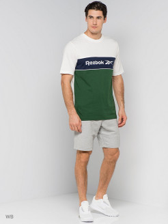Футболка CL F LINEAR TEE     CHALK Reebok
