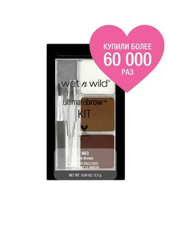 "Набор для бровей ""ultimate brow kit"", тон ash brown Wet n Wild"