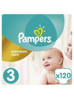 Подгузники Pampers Premium Care, 5-9 кг, 120 шт. Pampers