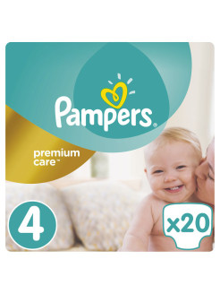 Подгузники Pampers Premium Care 8-14 кг, 4 размер, 20 шт Pampers