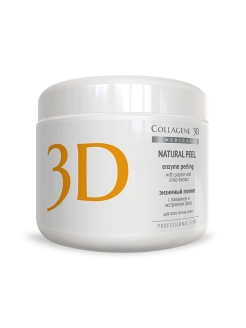 Пилинг ферментативный Natural peel с папаином и шисо 150 г Medical Collagene 3D