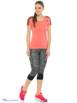 Бриджи TECHFIT CAPRI PRINT HEATHER Adidas