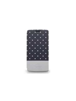 Чехол для LG G3 Neon Collection Glow-in-the-Dark Dot pattern Folio case,Black Kajsa