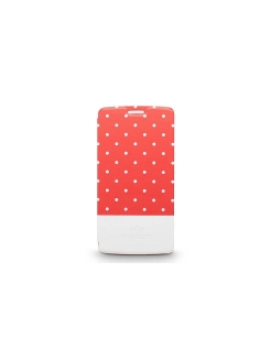 Чехол для LG G3 Neon Collection Glow-in-the-Dark Dot pattern Folio case,Red Kajsa