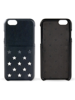 Чехол для iPhone 6 Plus Neon Collection Star pattern Pocket back case [iPhone 6- 5.5], Black Kajsa
