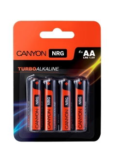 Батарейки, Canyon NRG alkaline battery AA, 4pcs/pack. CANYON