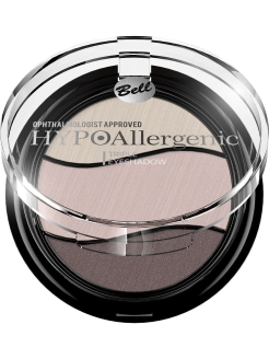 "Тени для век трехцветные гипоаллергенные ""Hypoallergenic Triple Eyeshadow "", Тон 09 Bell"