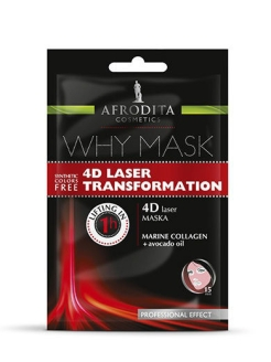 Маска для лица лазерная терапия 4D WHY MASK AFRODITA COSMETICS