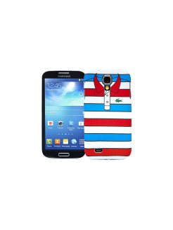 "Чехол для Samsung Galaxy S4 ""Red with blue stripes"", серия ""Sports shirt"" Kawaii Factory"